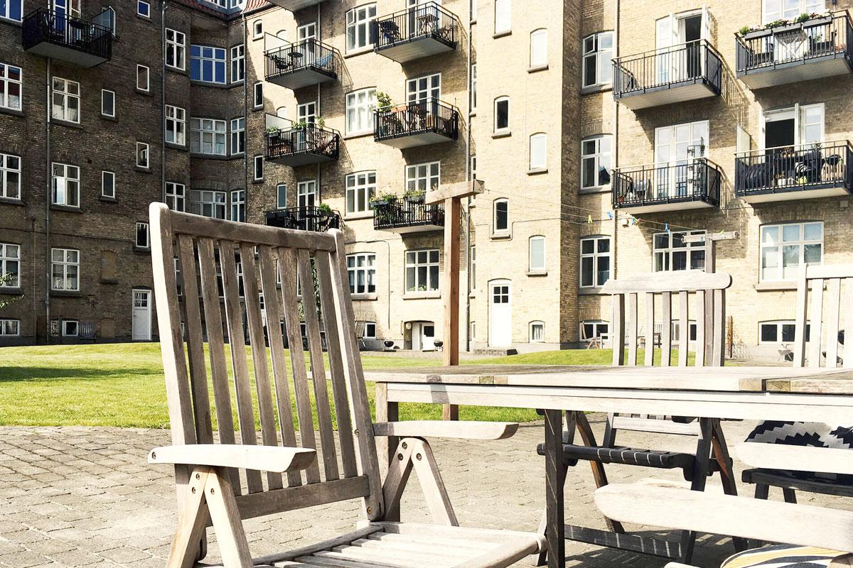 Havemøbler hos Andelsboligforeningen Aarhus
