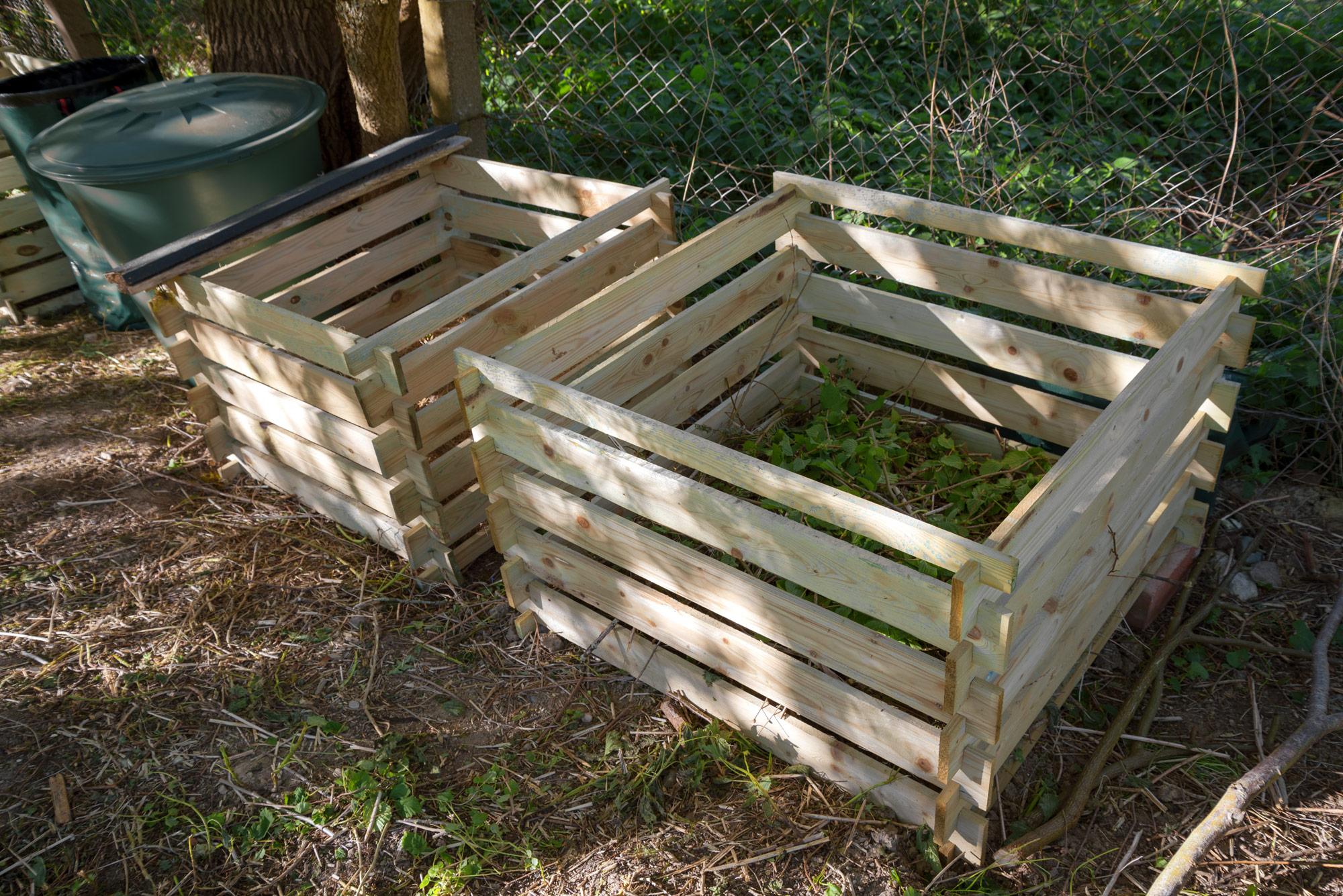 Åben kompostbunke